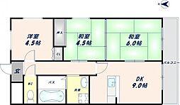 オルゴグラート東大阪[6階]の間取り