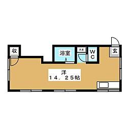 コーポ千島 B[1階]の間取り