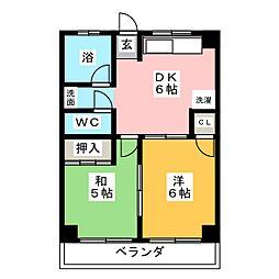 CyukyoMansyon(中京マンション)[1階]の間取り