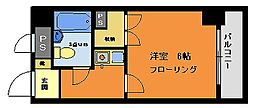 ライオンズマンション西八王子第3[806号室]の間取り