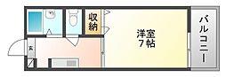 岡山県玉野市築港2丁目の賃貸アパートの間取り