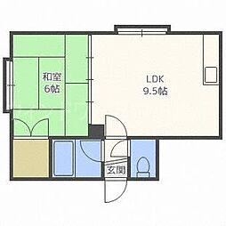 グランドール角屋I[3階]の間取り