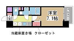 兵庫県神戸市中央区東雲通5丁目の賃貸マンションの間取り