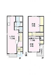 [テラスハウス] 東京都八王子市みなみ野4丁目 の賃貸【/】の間取り