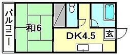 得松第3マンション[402 号室号室]の間取り