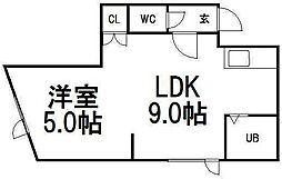 トキメック円山並木通II[203号室]の間取り