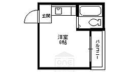 エステート都島[5階]の間取り