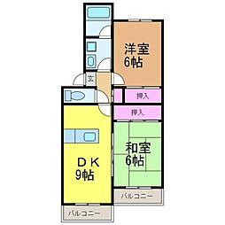 愛媛県松山市東石井2丁目の賃貸マンションの間取り