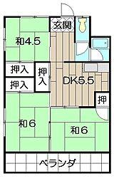 福鶴ハウス[215号室]の間取り