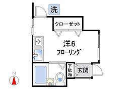 Hitbit新宿[102号室]の間取り