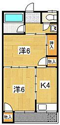 コーポ扇荘[206号室号室]の間取り