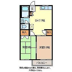 メゾン・ド・シューB棟[2階]の間取り