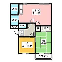 メゾンルック B棟[1階]の間取り