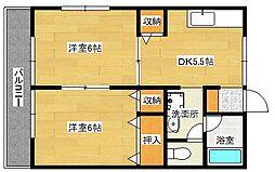 広島県広島市南区段原南1丁目の賃貸アパートの間取り