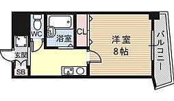 大阪府東大阪市小阪1丁目の賃貸マンションの間取り