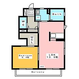 ユートピア東山 F[1階]の間取り
