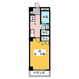 エスト岡崎[5階]の間取り