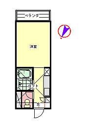 コーポセワナ[1階]の間取り