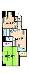 パレス内田6号館[3階]の間取り