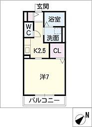 ガノス C棟[1階]の間取り