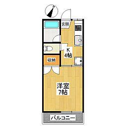 東京都狛江市岩戸南4丁目の賃貸アパートの間取り