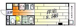 千里丘ビル[3階]の間取り