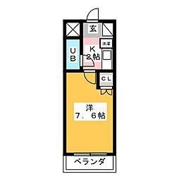 シティパレス平尾駅前partV[3階]の間取り