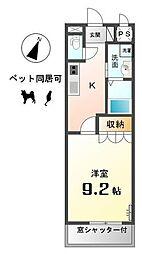 愛知県稲沢市六角堂東町4の賃貸アパートの間取り