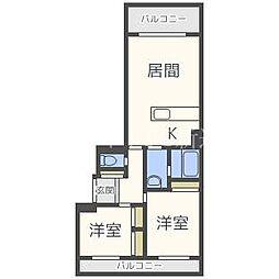 北海道札幌市東区北三十三条東15丁目の賃貸アパートの間取り