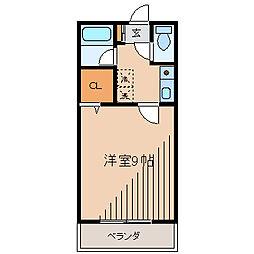 第2サンハイツ大野[2階]の間取り
