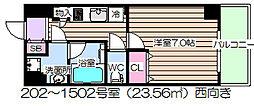ダブルスタイル大阪天満宮[11階]の間取り