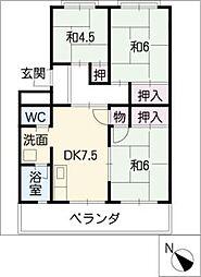 シティハイツ村井[2階]の間取り
