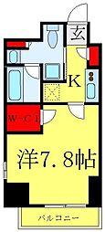 都営三田線 西巣鴨駅 徒歩6分の賃貸マンション 15階1Kの間取り