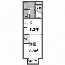 北海道札幌市中央区南十二条西18丁目の賃貸マンションの間取り