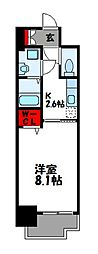 JR篠栗線 柚須駅 徒歩20分の賃貸マンション 9階1Kの間取り