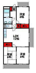 サンシャイン三苫 4階3LDKの間取り