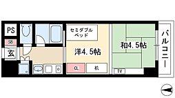 プログレンス栄 6階1Kの間取り