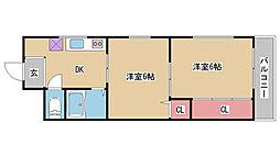兵庫県神戸市兵庫区五宮町の賃貸マンションの間取り