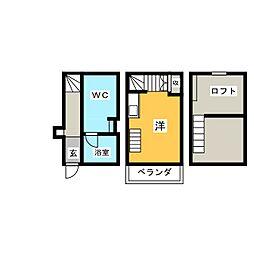 シャレイド豊田本町WEST[2階]の間取り