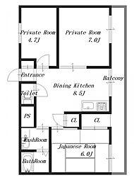 ニューパレスマンション[3階]の間取り