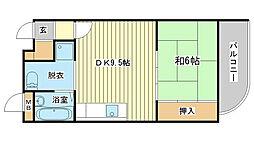 兵庫県姫路市広畑区西夢前台4町目の賃貸マンションの間取り