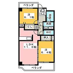 第6田中ビル[4階]の間取り