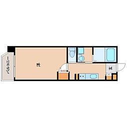 ルミエール阪神尼崎 5階1Kの間取り