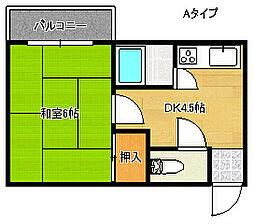 帝塚山レジデンス[2階]の間取り