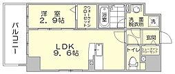 パークサイド博多駅東[7階]の間取り