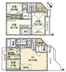 [一戸建] 神奈川県横浜市緑区白山2丁目 の賃貸【/】の間取り