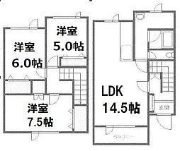 [テラスハウス] 北海道札幌市西区福井8丁目 の賃貸【/】の間取り