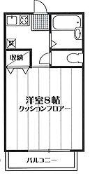 フラットレットK 121号室[121号室]の間取り