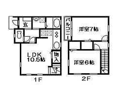 [テラスハウス] 埼玉県さいたま市南区別所2丁目 の賃貸【埼玉県 / さいたま市南区】の間取り