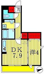 千葉県松戸市新松戸3丁目の賃貸アパートの間取り